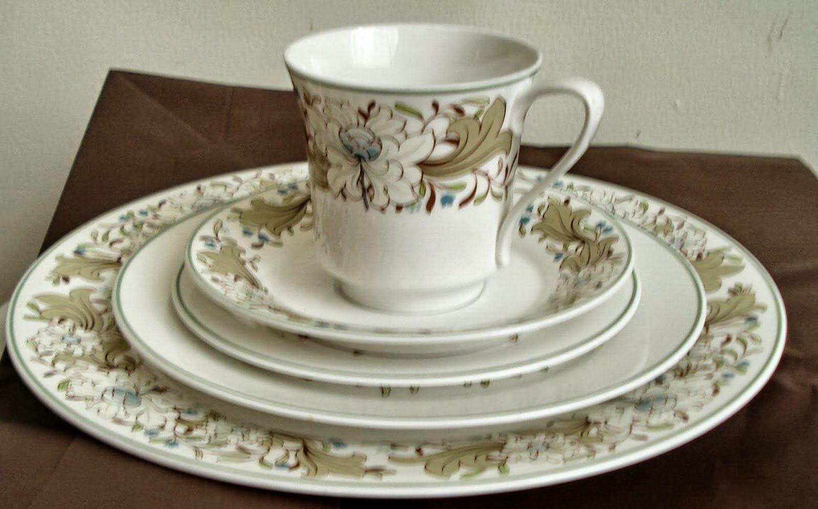 Lot Vintage SPODE Milkwood BONE CHINA c1960 Y8192 Floral