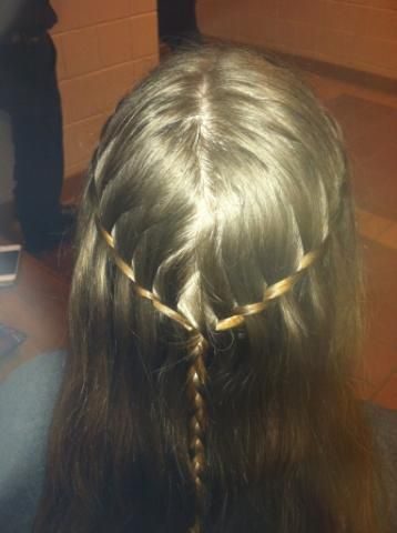waterfall twist coming together into a braidd