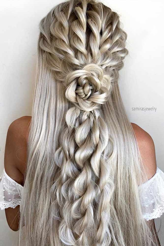 10 Half Up Half Down Wedding Hairstyles Ideas | Lo