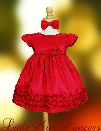 Red Baby Christmas Dresses - http://www.ikuzobaby.com/red-baby ...