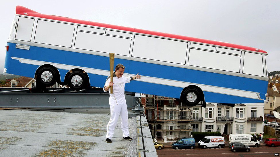 In pictures Torch relay day 60 London bus, Olympics