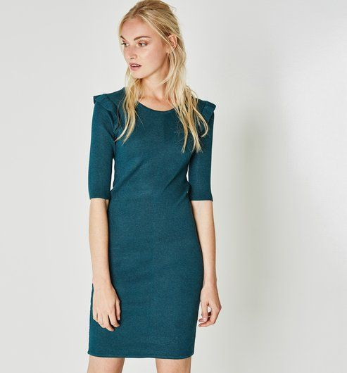Robe femme bleue canard