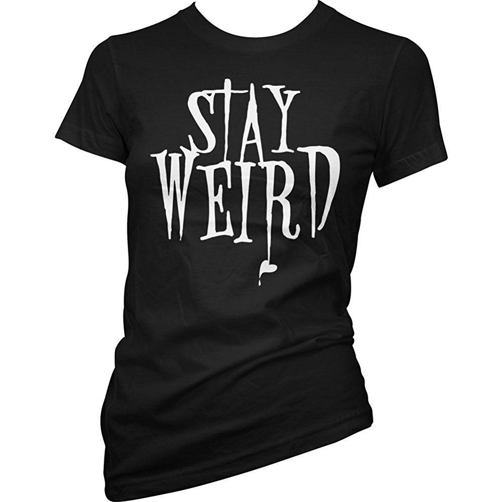 913d3b06b03aa Pinky Star Women s Stay Weird T-Shirt Black in 2019