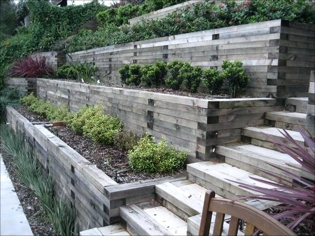 steep slope landscaping - Google Search   Sloped backyard ... on Steep Sloped Backyard Ideas id=60138