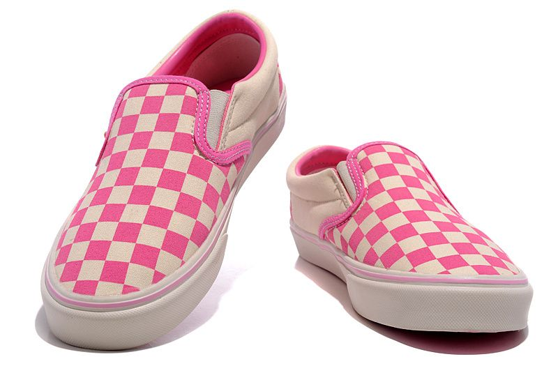 77bd056b57f I m selling WOMENS VANS WASHED CHECKER SLIP-ON PINK - £45.00  onselz