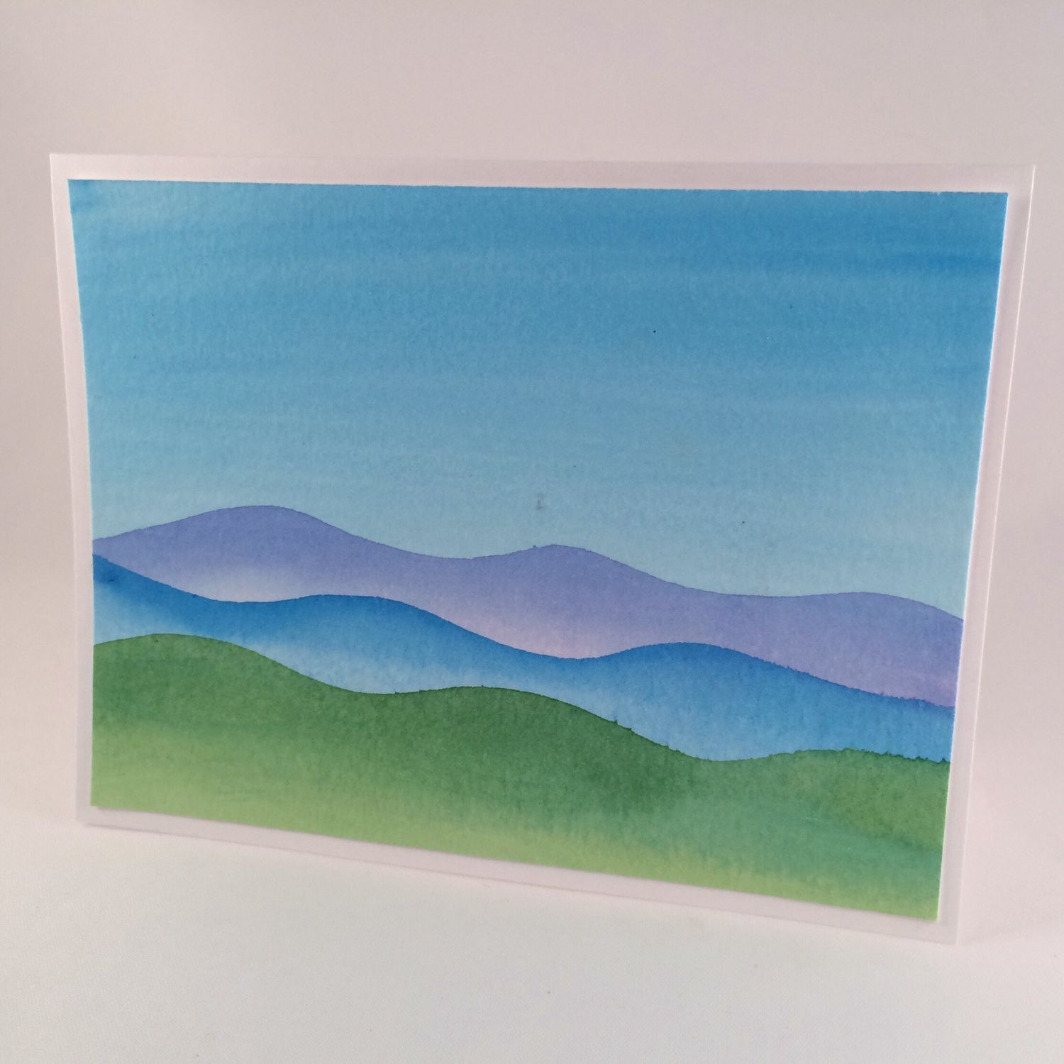 Blue mountain watercolor greeting card watercolors products and blue mountain watercolor greeting card kristyandbryce Image collections