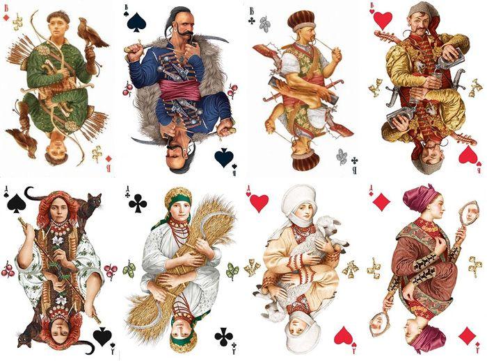 Украинская барочная одежда на иллюстрациях к колоде игральных карт   Игральные  карты, Краска