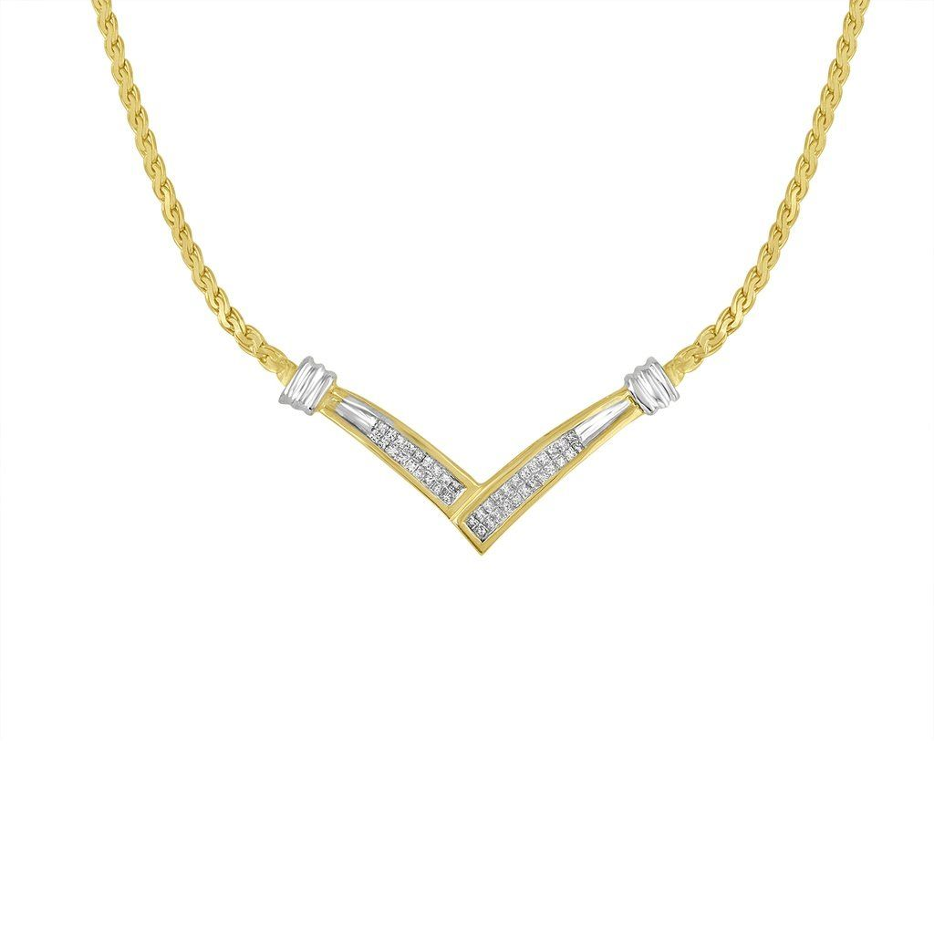 K twotoned gold cttw princess cut diamond