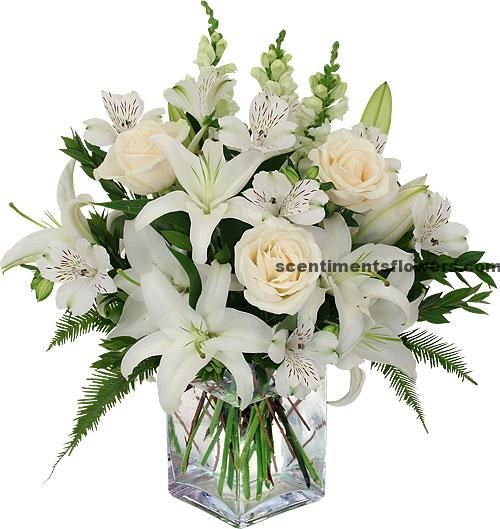 funeral table floral arrangements FSF0113 Sympathy Floral Table