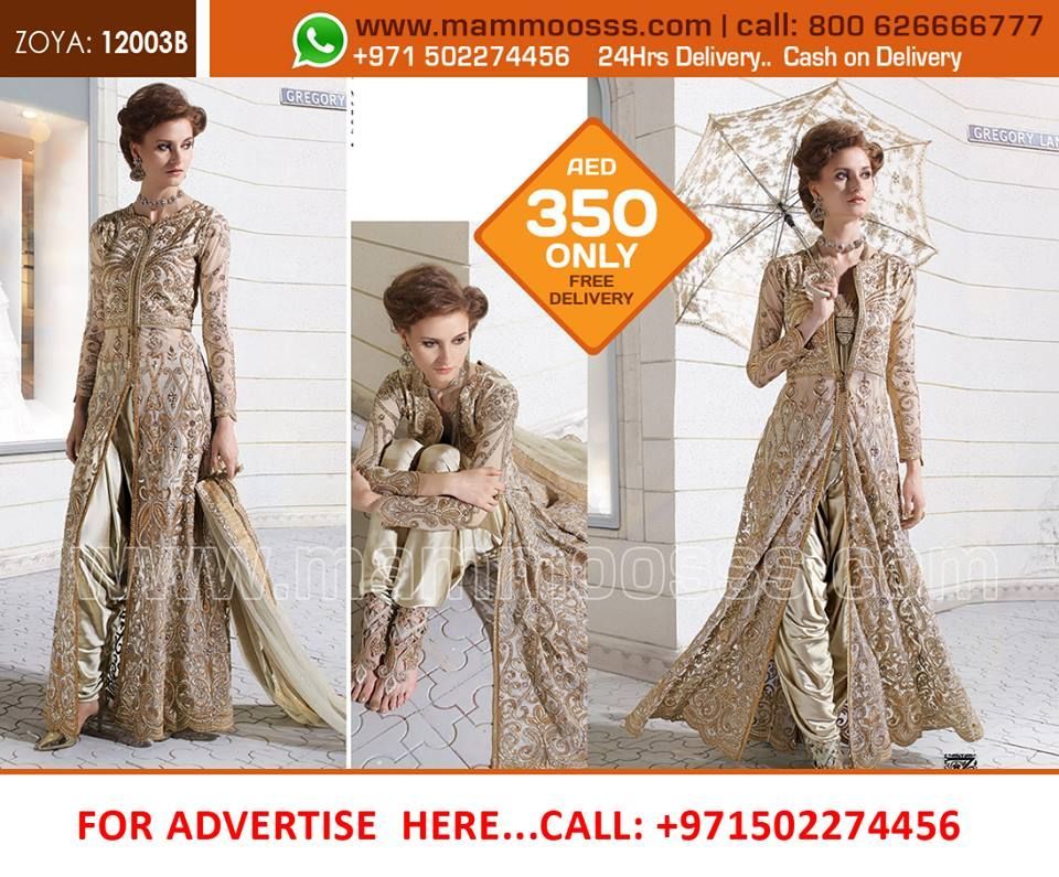 www.mammoosss.com (Original ZOYA BRANDED SUIT Heavy Embroidery work specially created / with stone work )  PRICE- AED 350 /- OMR 43/- INR 6800 /- QAR 410/- FREE Delivery +cash on Delivery+24 HRS Delivery UAE , OMAN, QATAR AND ( INDIA 5 WORKING DAYS) How To Order or Buy ?  Call : 800 MAMMOOSSS ( 800 626666777) - UAE TollFree  Call : DUBAI STUDIO - 04 2635986 : whatsAPP -00971502274456  #Lehangas #sarees #mammoosss.com #indiandresses #ethnicwears #designercloths #ladieswear #dubai