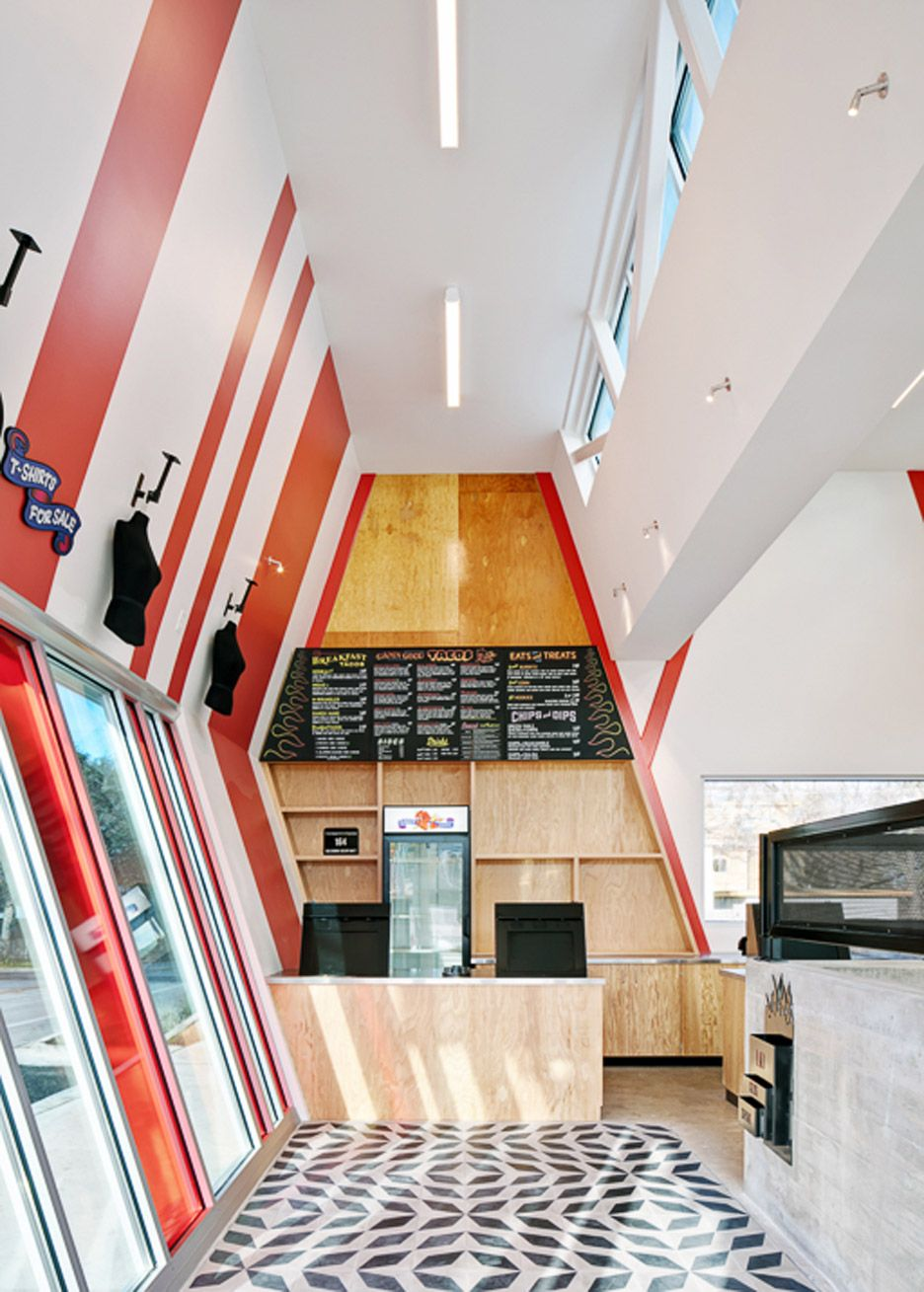 1950's drivein inspired Torchy's Taco Shop in Austin