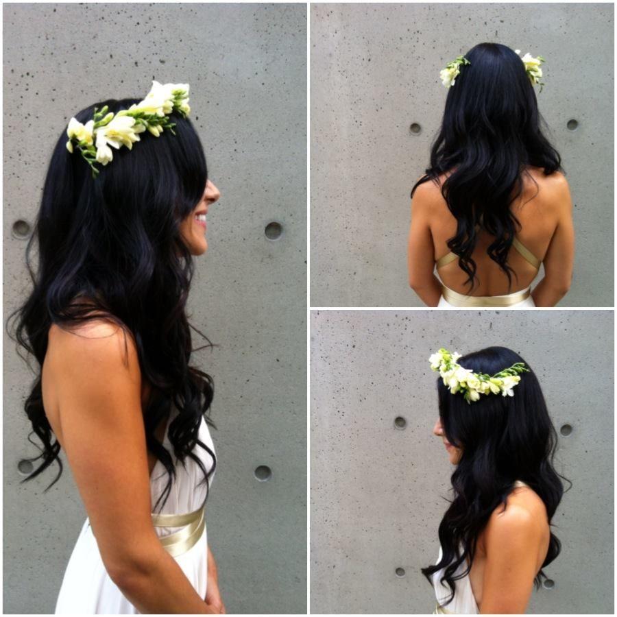 Wedding Hairstyles Brunette: Long Hair, Bridal Hair, Bride, Dark Hair, Brunette, Waves