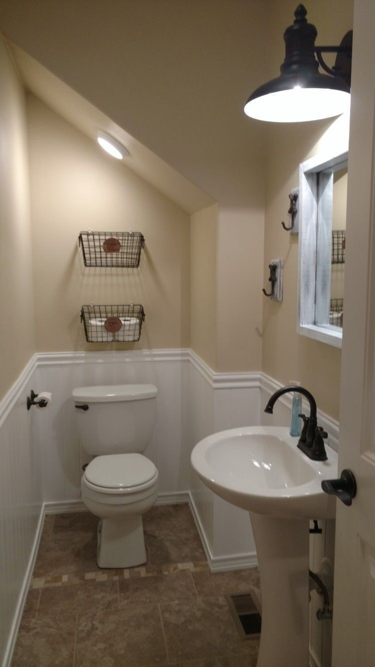 35 Solutions For Guest Bathroom Under Stairs Decoarchi Com Bathroom Under Stairs Small Half Baths Remodel Bedroom