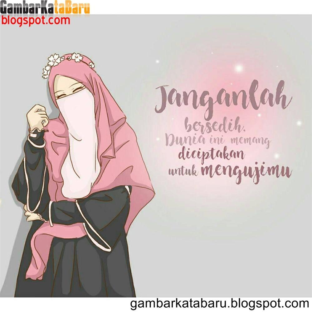 Kartun Muslimah Bercadar Dengan Kata Kata Mutiara Gambar Kartun Kartun Ilustrasi Kartu Ucapan
