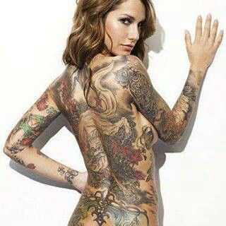Full back and sleeve tattoo awesome inkibles for Tattoo bodysuit female