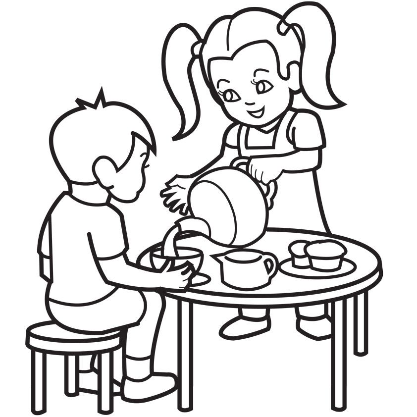 Tea Party Coloring Pages Coloring Page Asteroid Coloring Page
