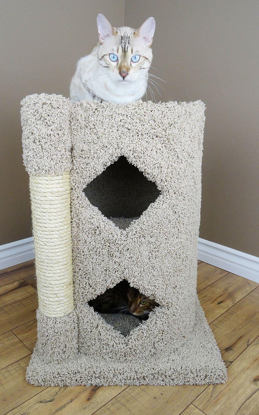 28 Premier 2 Story Solid Wood Cat Condo Condominio De Gato Gatos