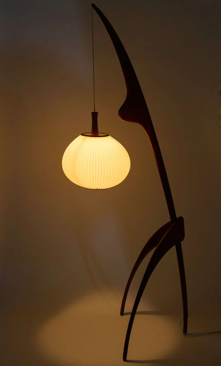 Praying Mantis Floor Lamp By Rispal Circa 1950 Lampe Sur Pied Lamp Design