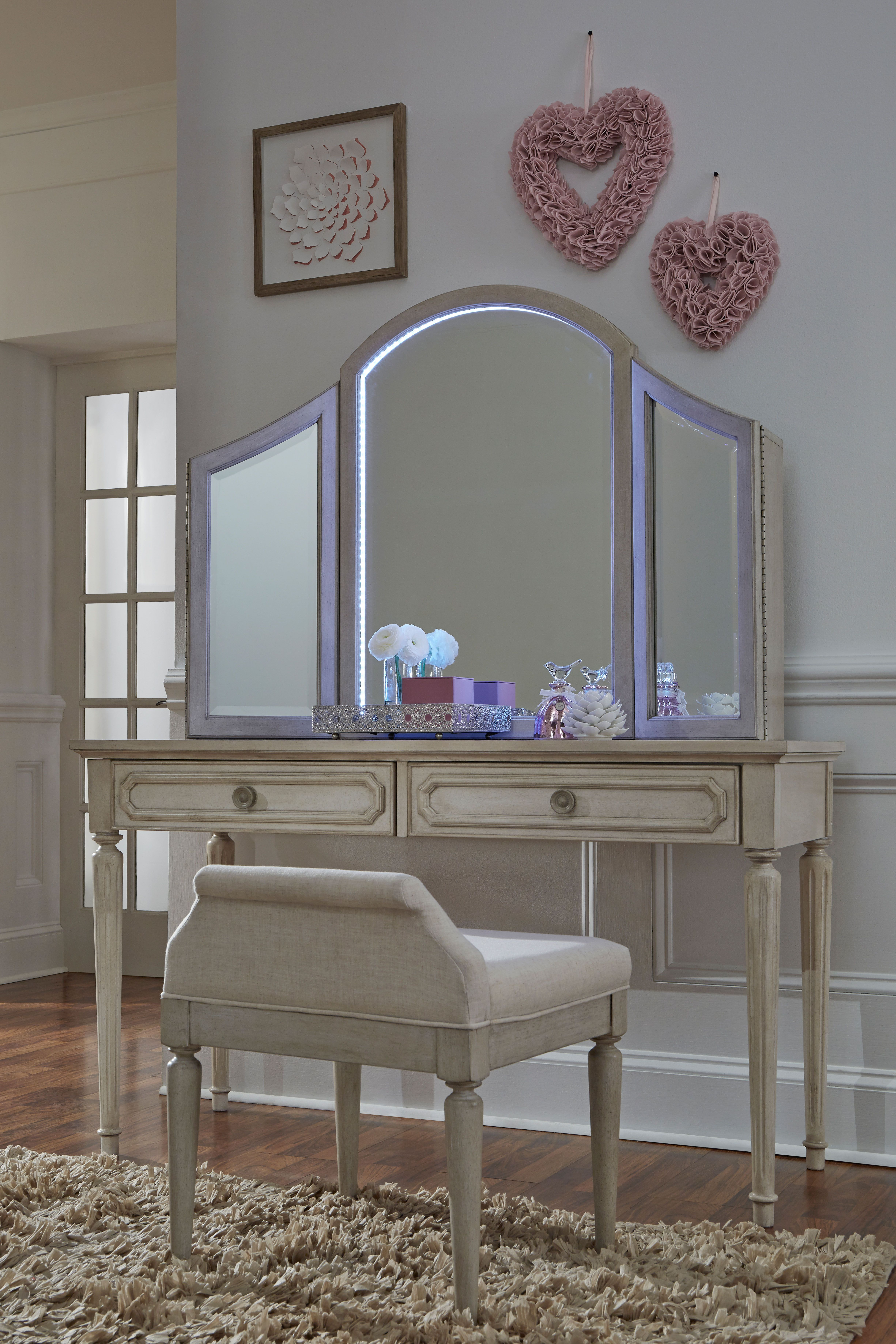 The emma vanity features built in touch lighting legacy classic kids kids kidsfurniture homedecor traditionalstyle girlsbedroomideas