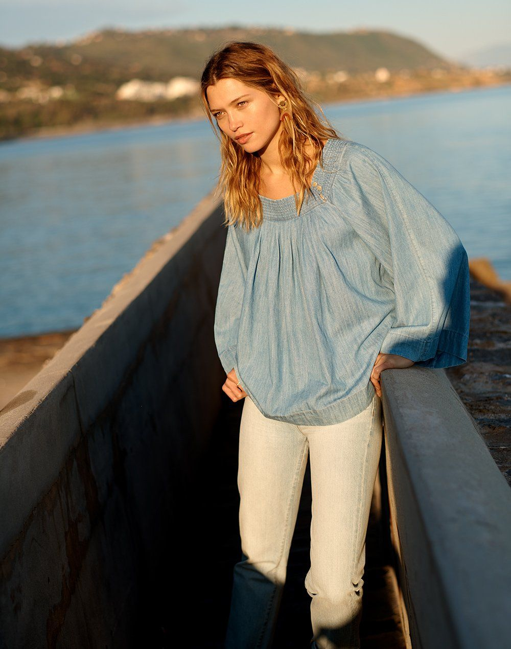 c808fabeb1 madewell denim square-neck top worn with the perfect summer jean ...