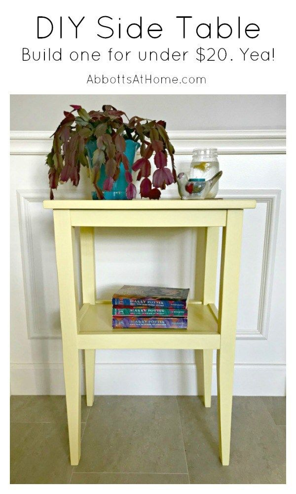 build a pretty diy side table for less than 20 win crafts diy rh pinterest ca