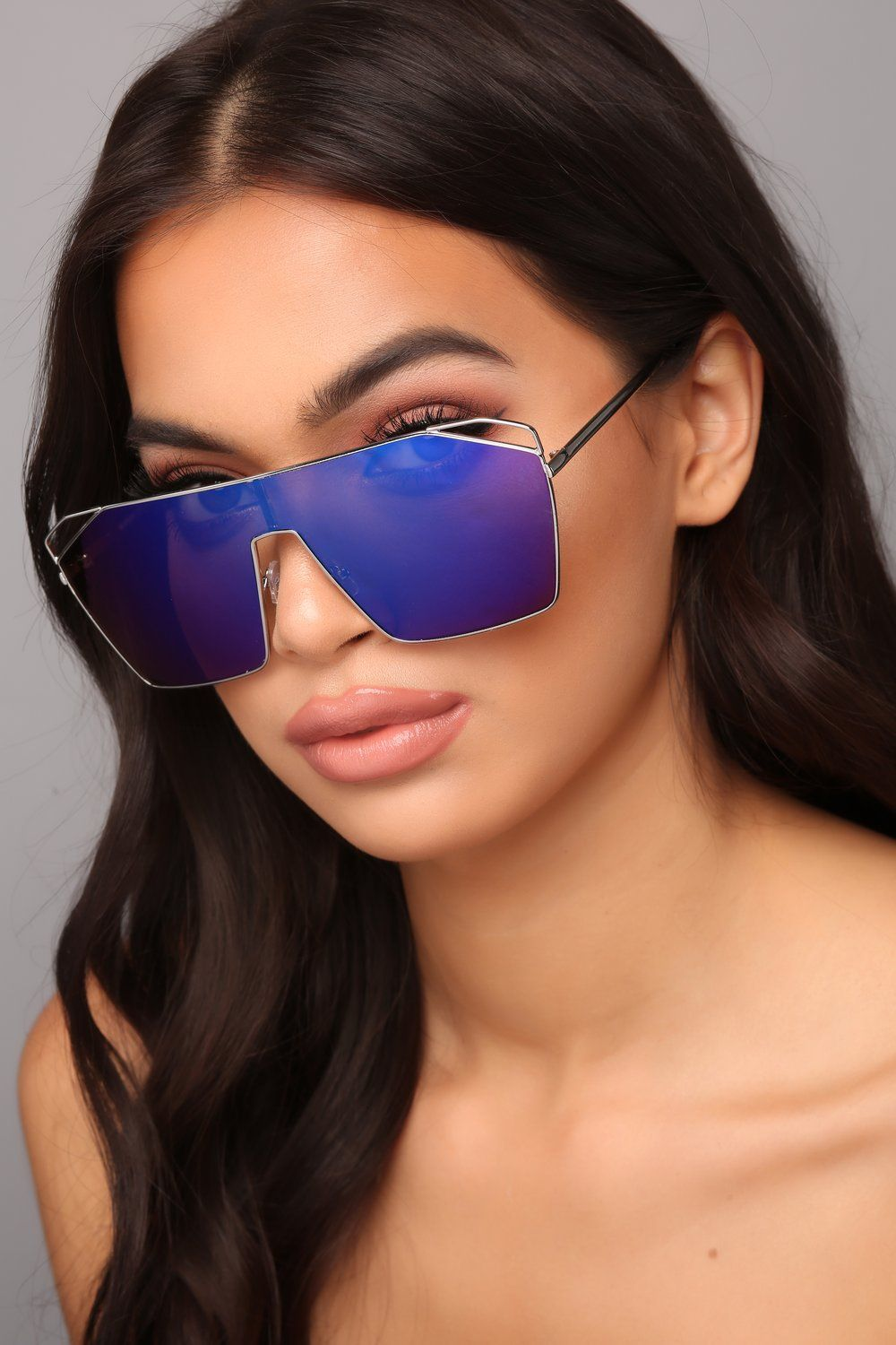 7297fc8754 Take A Look At What You Did Sunglasses - Blue Green Fashion Nova