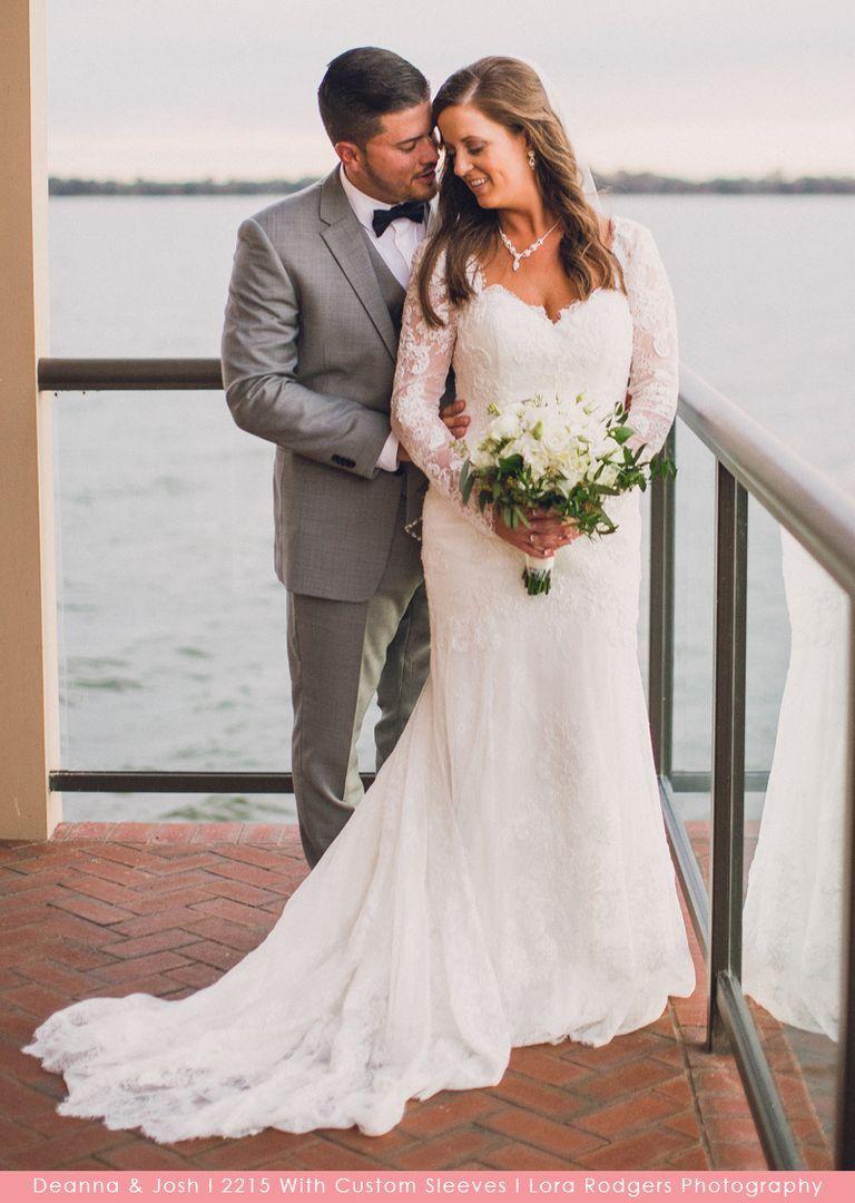 Style 2215 Champagne/Mocha/Ivory Long sleeve wedding