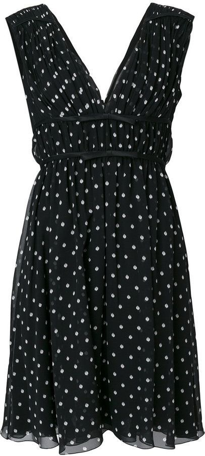 562148888db Giambattista Valli sleeveless polka dot dress