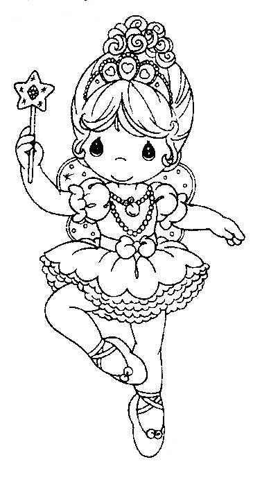 Pinto Dibujos: Bailarina de ballet precious moments para colorear ...