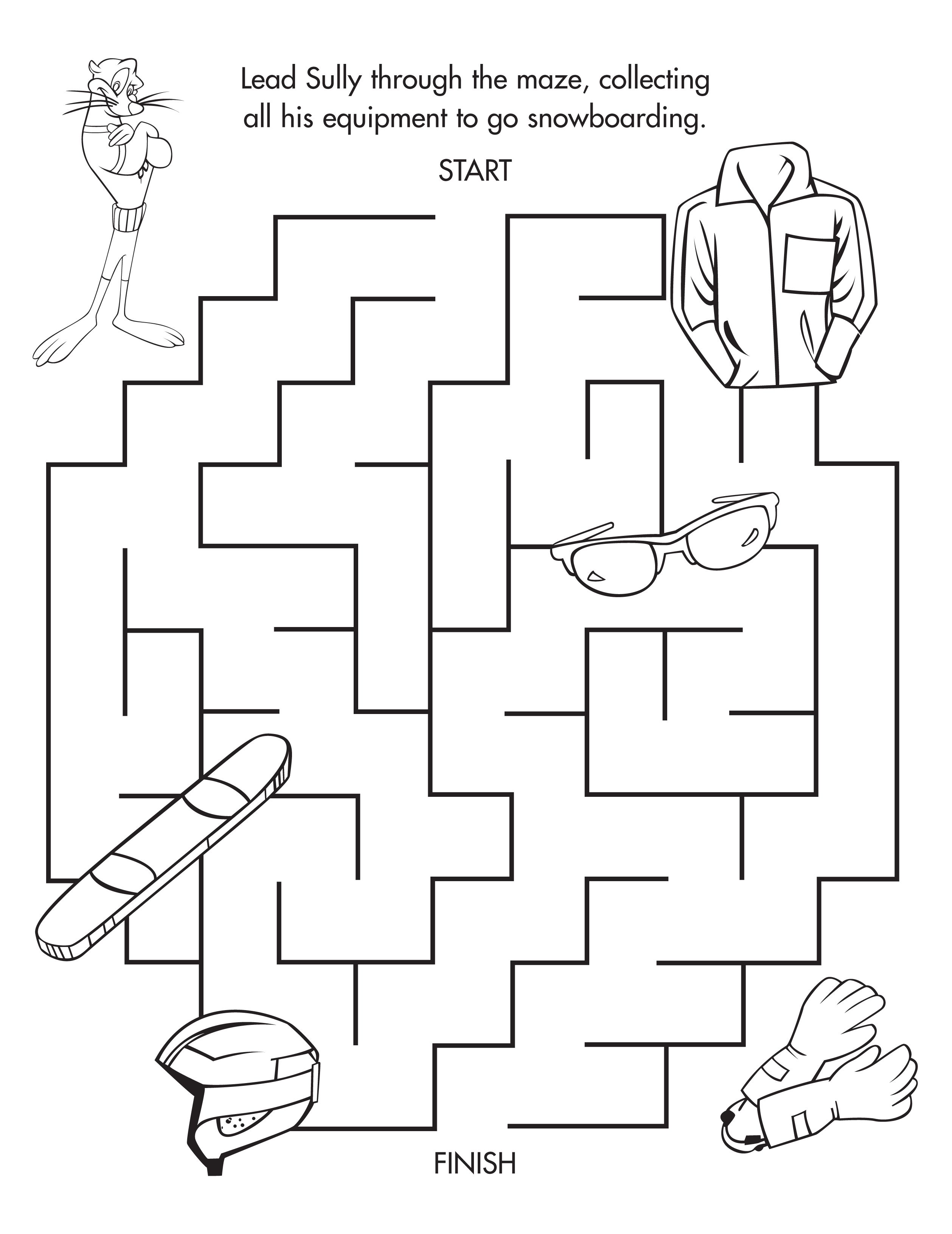 Sully S Winter Maze Freeprintable With Images