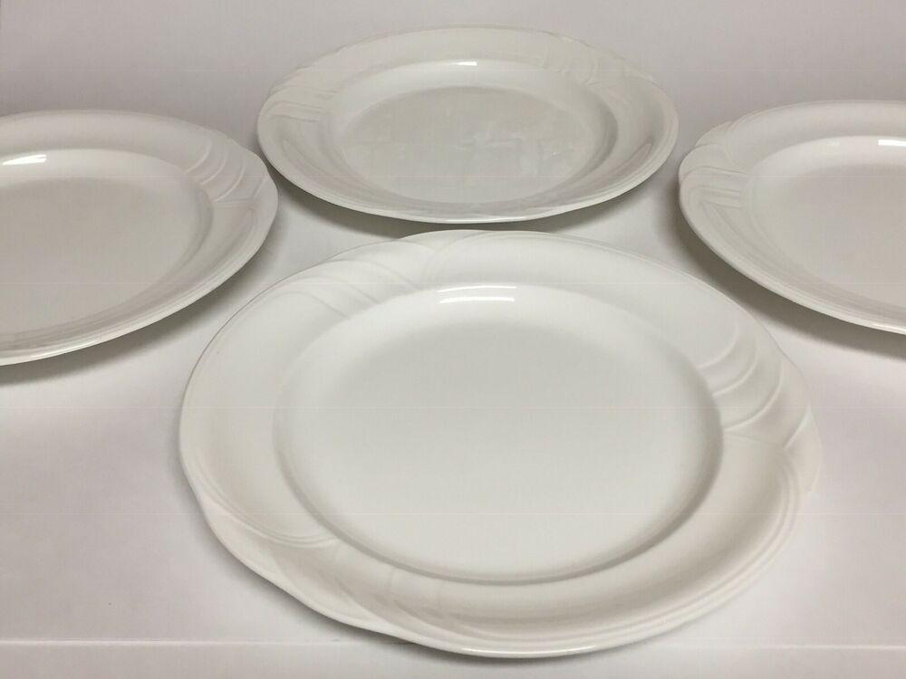 Set Of 4 Royal Doulton Profile Dinner Plates White 10 3 8 Royaldoulton White Dinner Plates Plates Vintage China Patterns
