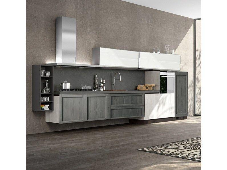 Nuovi Mondi Cucine Cucina Cucina moderna in legno in offerta ...
