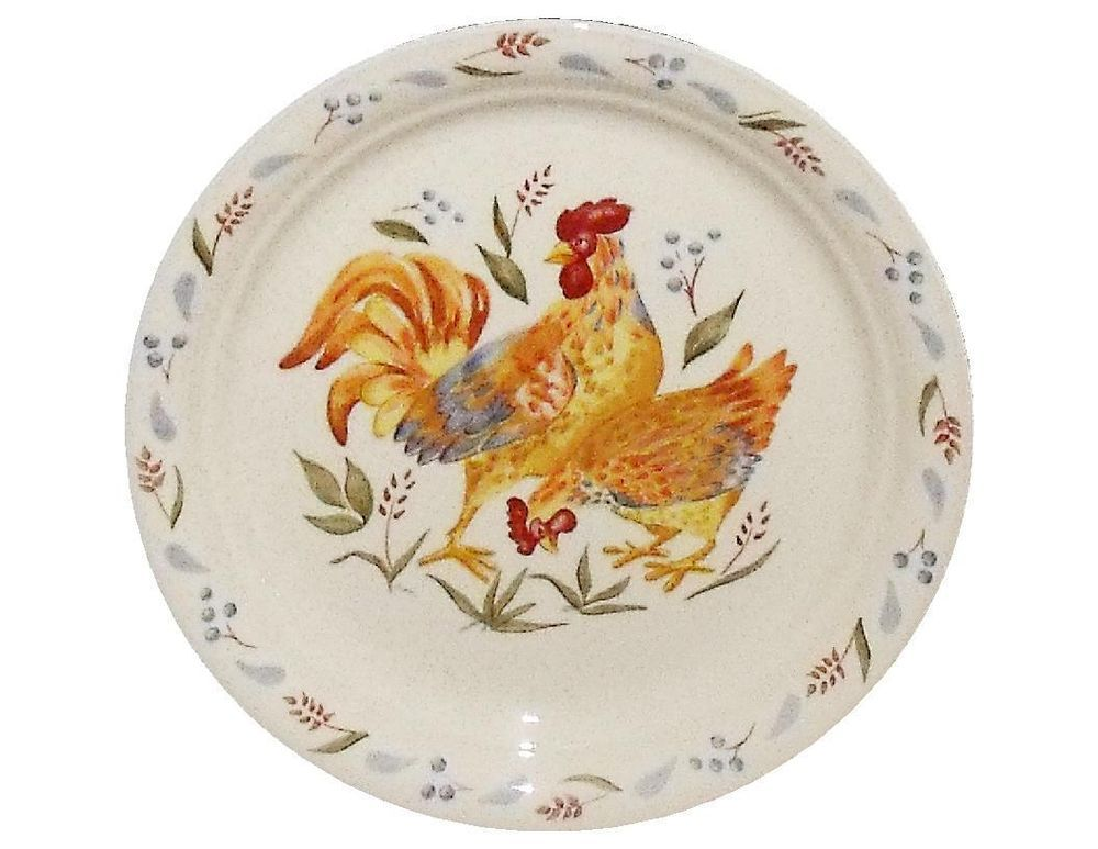 Corelle SANDSTONE COUNTRY MORNING Rooster 8 1/2\