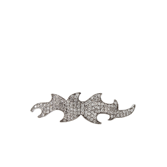 Diamond Pattern Double Ring   COLETTE JEWELRY