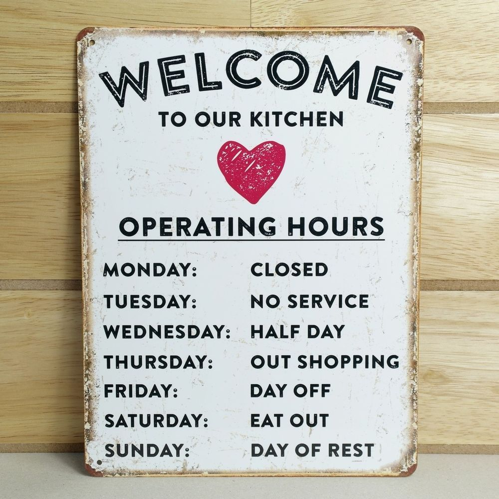 Vintage style metal wall sign plaque shabby chic kitchen picture ...
