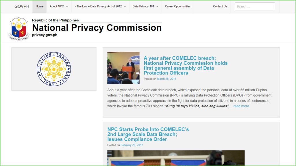 Philippines Recently Formalised Their Data Privacy Act Joining