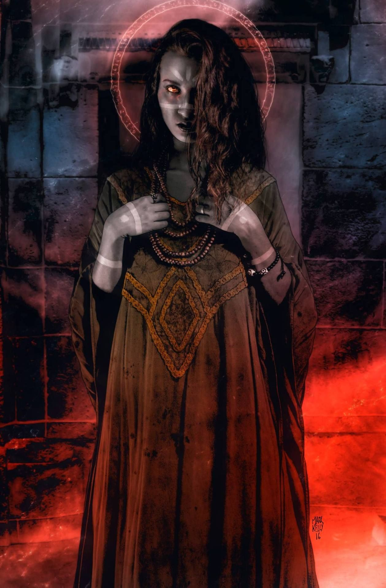 Full page illustration for Vampire: The Masquerade - Lore of the