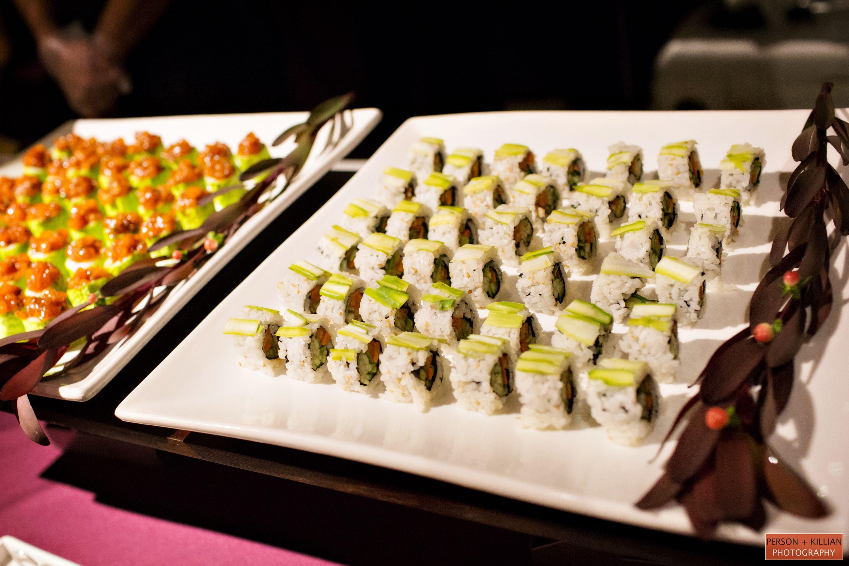 Good Eats Wedding Sushi Inspiration Small Bites Creative Catering Boston Vendors Four Seasons Hotel Reception
