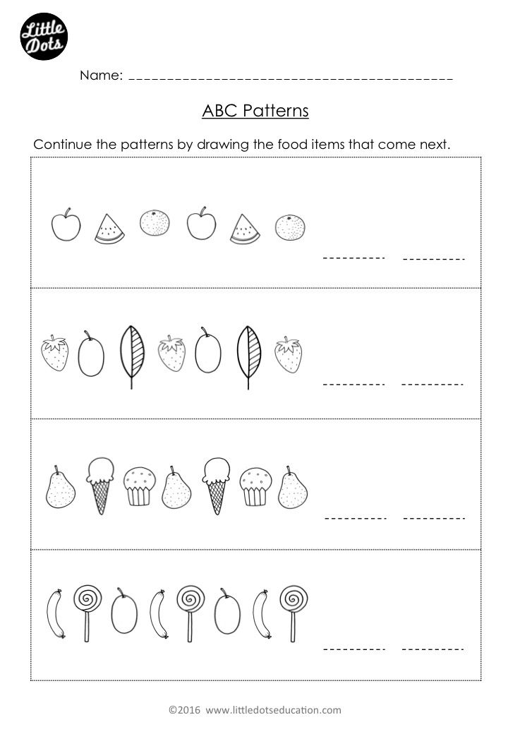 Free The Very Hungry Caterpillar Patterning Worksheet Practice To Cont Pattern Worksheets For Kindergarten Pattern Worksheet Kindergarten Math Worksheets Free