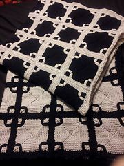 Ravelry: Black and White Afghan pattern by American Thread Company