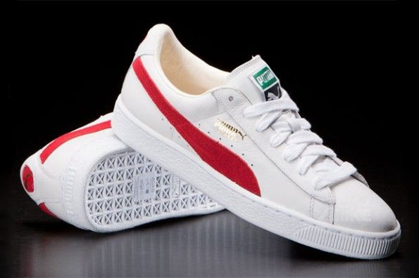 red and white pumas