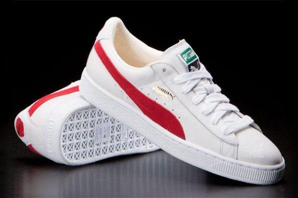 Puma Basket Classic Trainer Color: White / Red On my Doppler Radar for  Fresh. #OnMyDopplerRadarforFresh