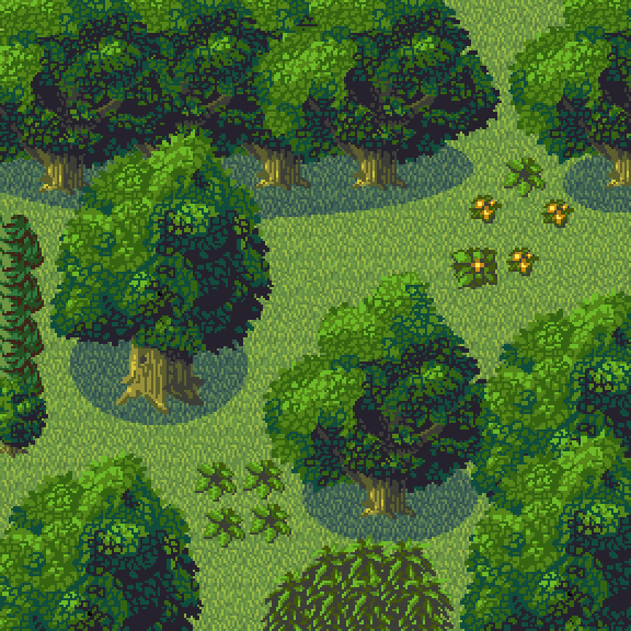 Made Some Trees And Bushes From A Top Down Perspective Perfect For Rpg Games Pixel Art Pixel Art Games Art