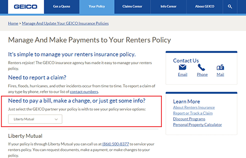 Geico Renters Insurance Login Make A Payment Geico Insurance