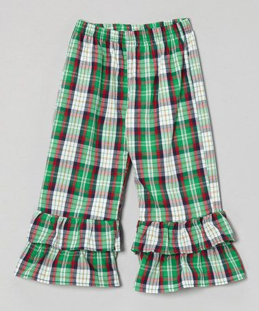 Loving this Red & Green Plaid Ruffle Pants - Infant, Toddler & Girls on #zulily! #zulilyfinds $16.99