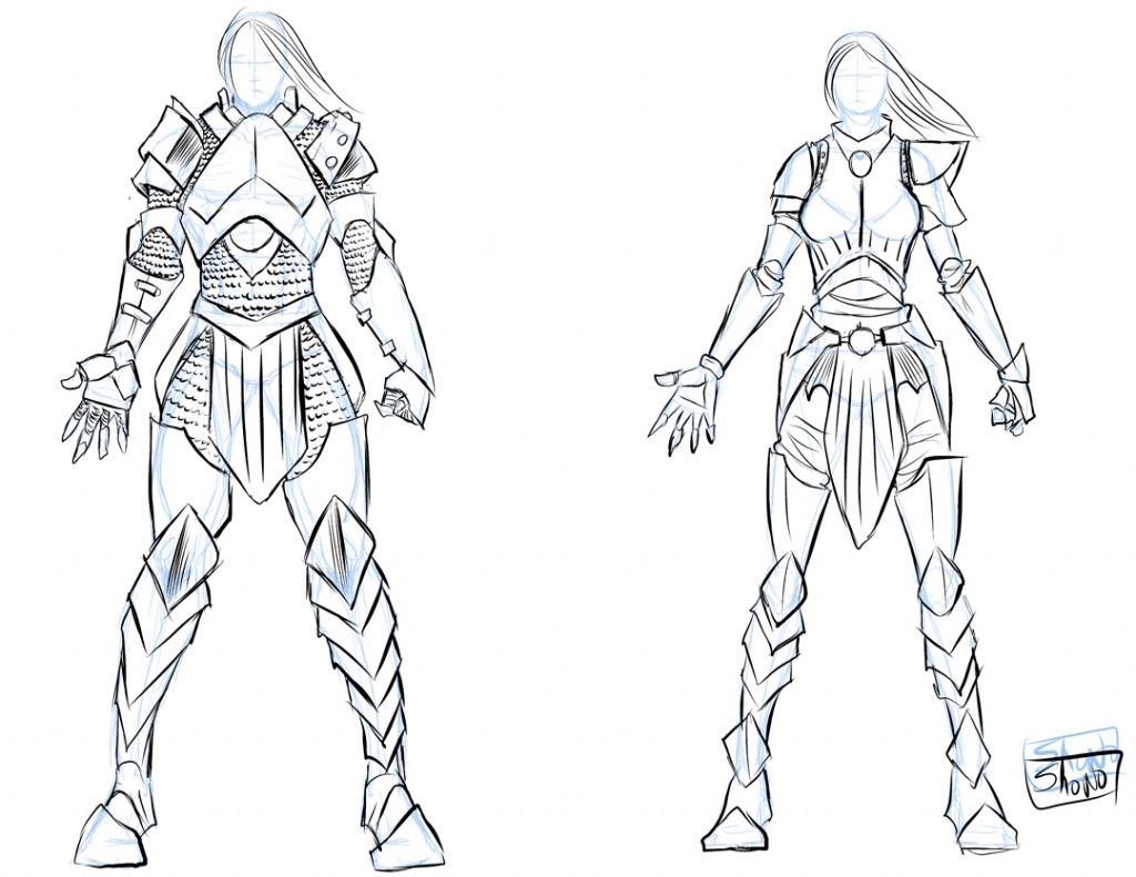 Armour Sketch Drawing