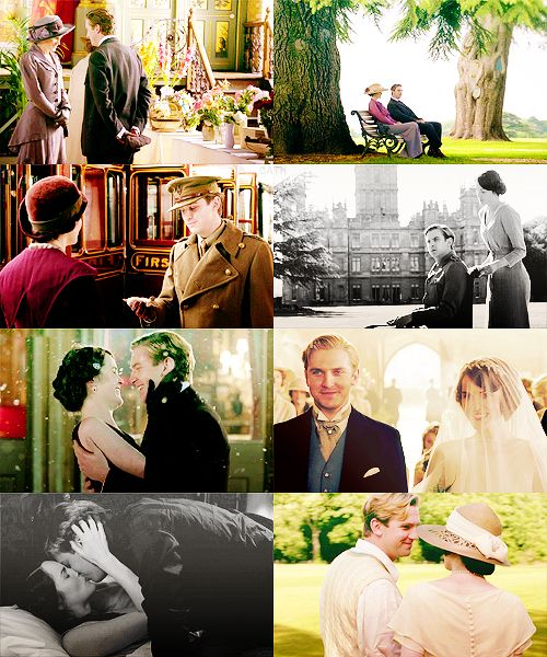 "Mary and Matthew through the ages #DowntonAbbey ""I didn't think it was possible to love as much as I love you."""