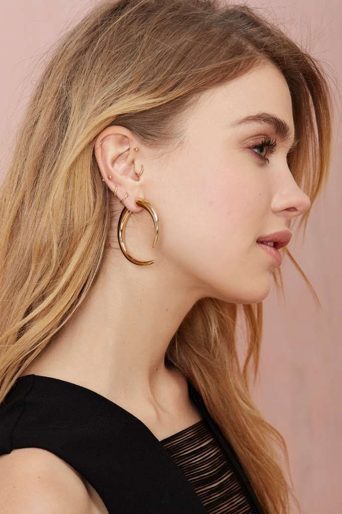 Get The Horns This Summer With These Insanely Cool Double Sided Earrings Fronts Are Smaller Gold Studs And Backs Larger
