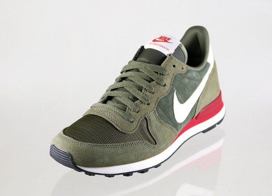 the latest 97aee 7a826 Nike Internationalist leather (Cargo Khaki   Sail - Medium Olive)