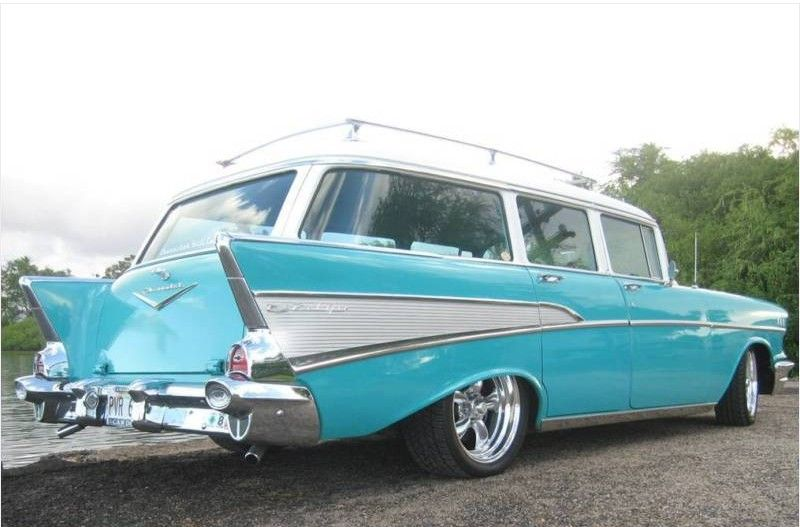 1957 Chevy Nomad Wagon Custom Wheels Those Were The Days